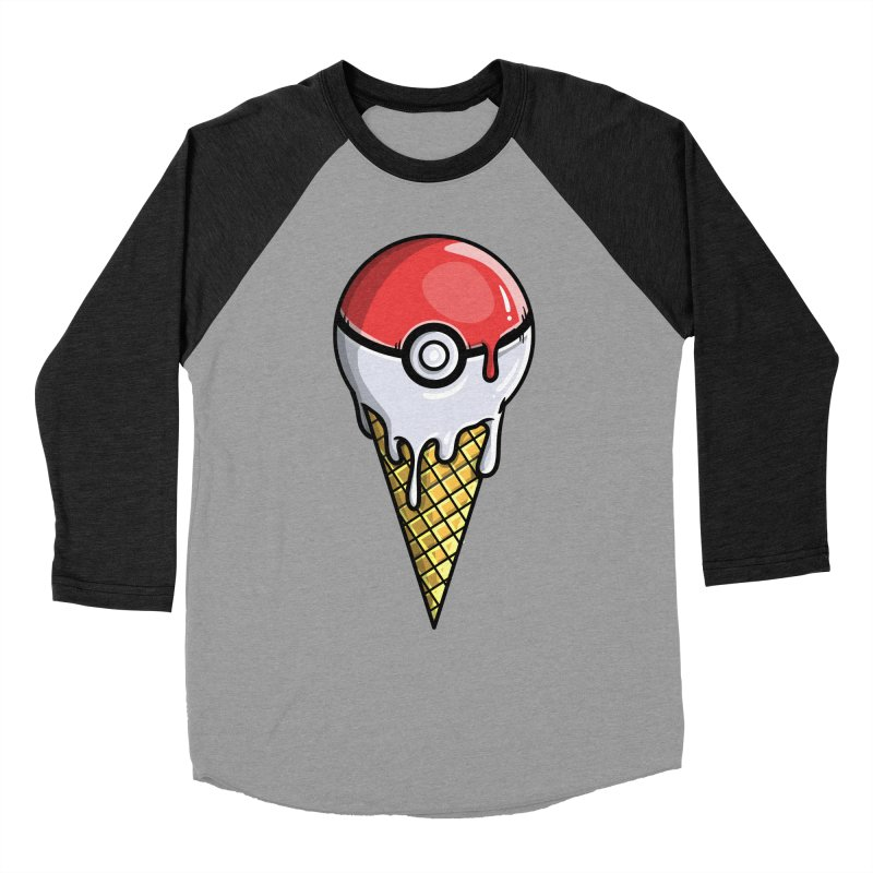 Gotta Lick 'Em All Men's Baseball Triblend Longsleeve T-Shirt by mebzart's Artist Shop