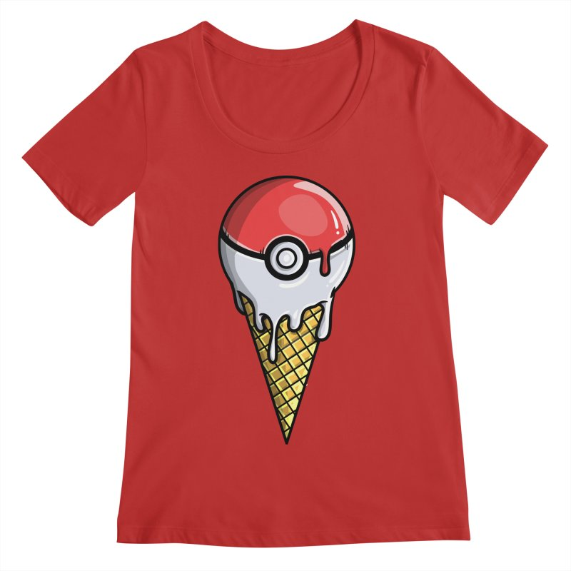 Gotta Lick 'Em All Women's Regular Scoop Neck by mebzart's Artist Shop