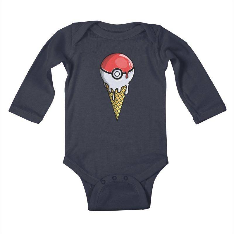 Gotta Lick 'Em All Kids Baby Longsleeve Bodysuit by mebzart's Artist Shop