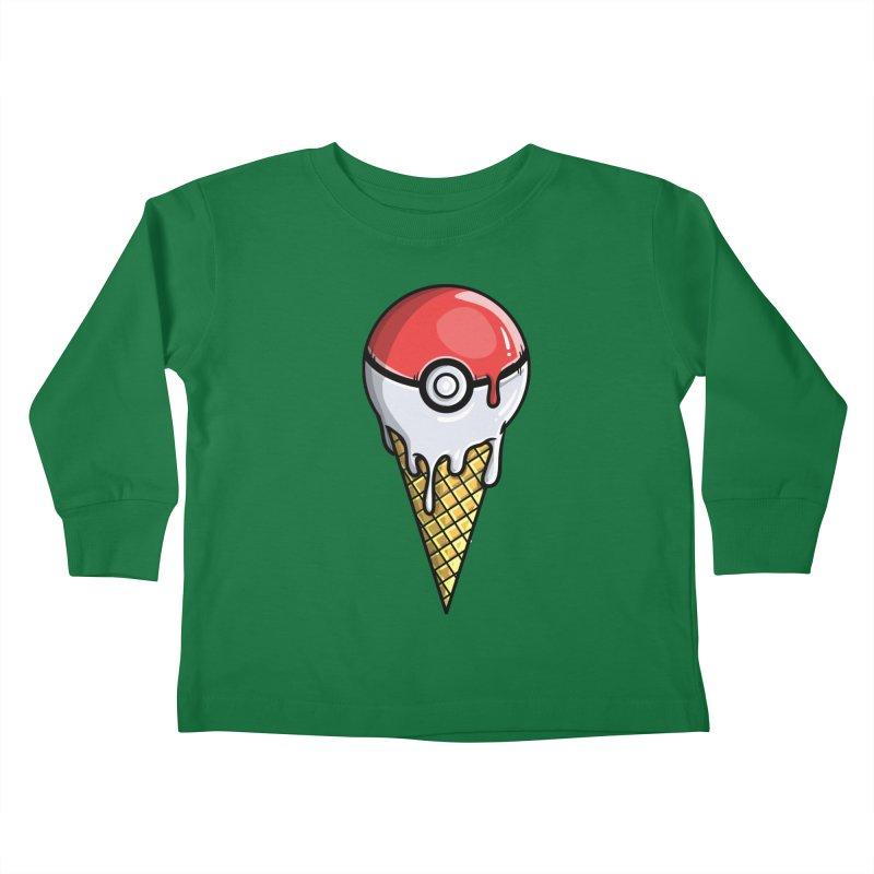 Gotta Lick 'Em All Kids Toddler Longsleeve T-Shirt by mebzart's Artist Shop