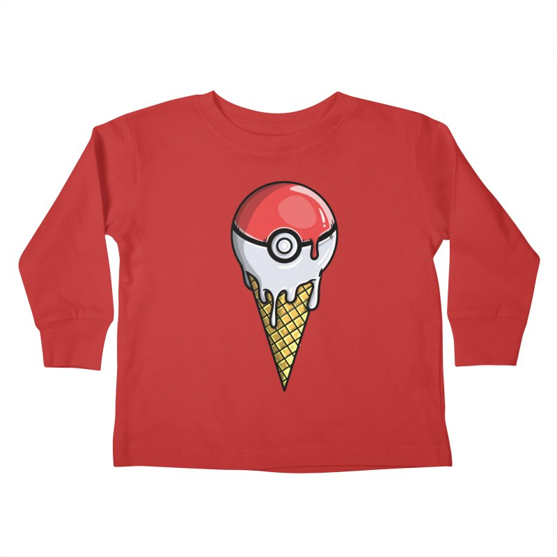 Gotta Lick 'Em All Kids Toddler Longsleeve T-Shirt by mebzart's Artist Shop