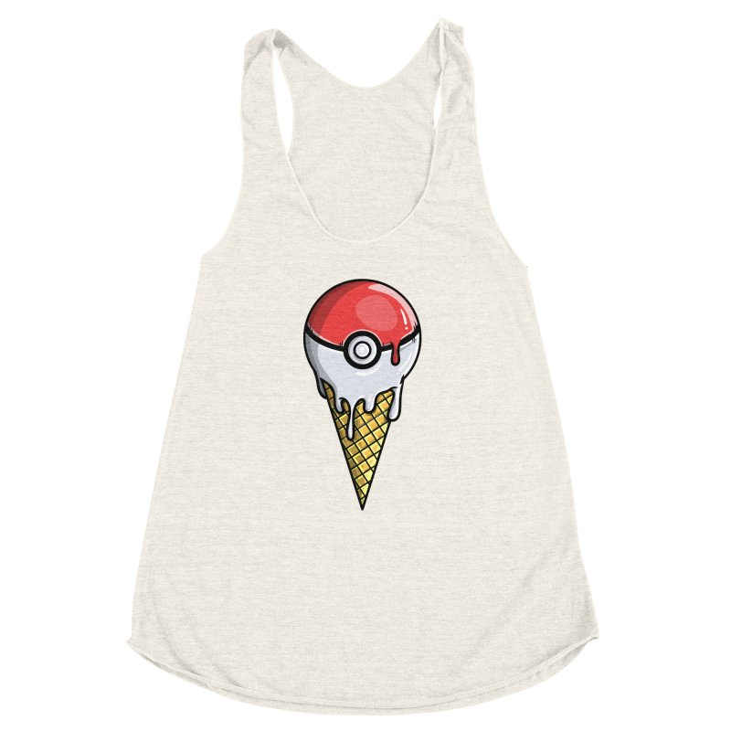Gotta Lick 'Em All Women's Racerback Triblend Tank by mebzart's Artist Shop