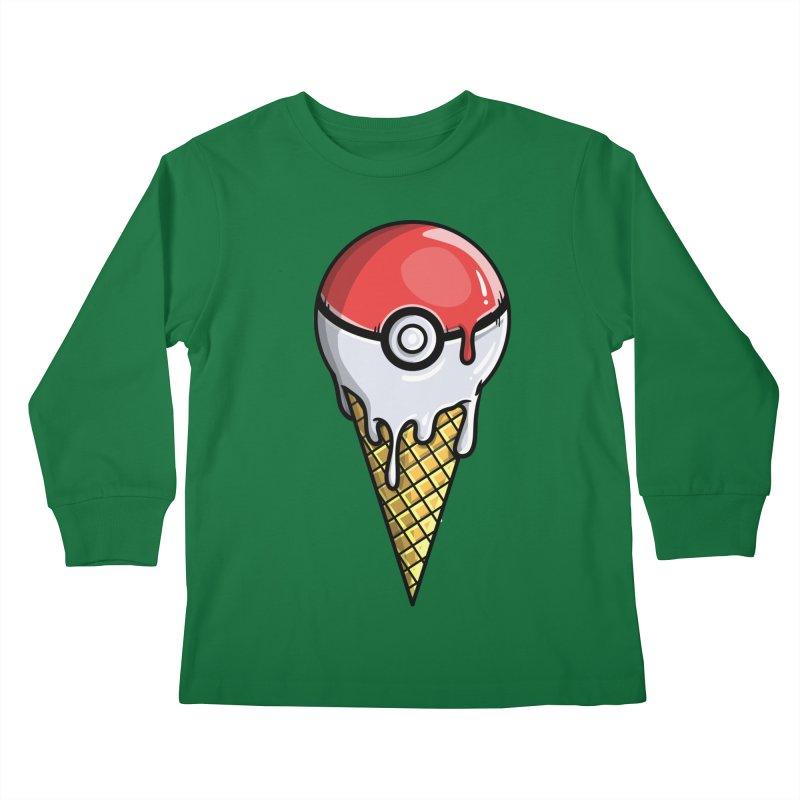 Gotta Lick 'Em All Kids Longsleeve T-Shirt by mebzart's Artist Shop