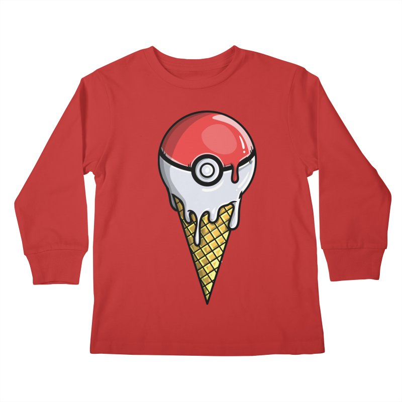 Gotta Lick 'Em All Kids Longsleeve T-Shirt by mebzart's Artist Shop