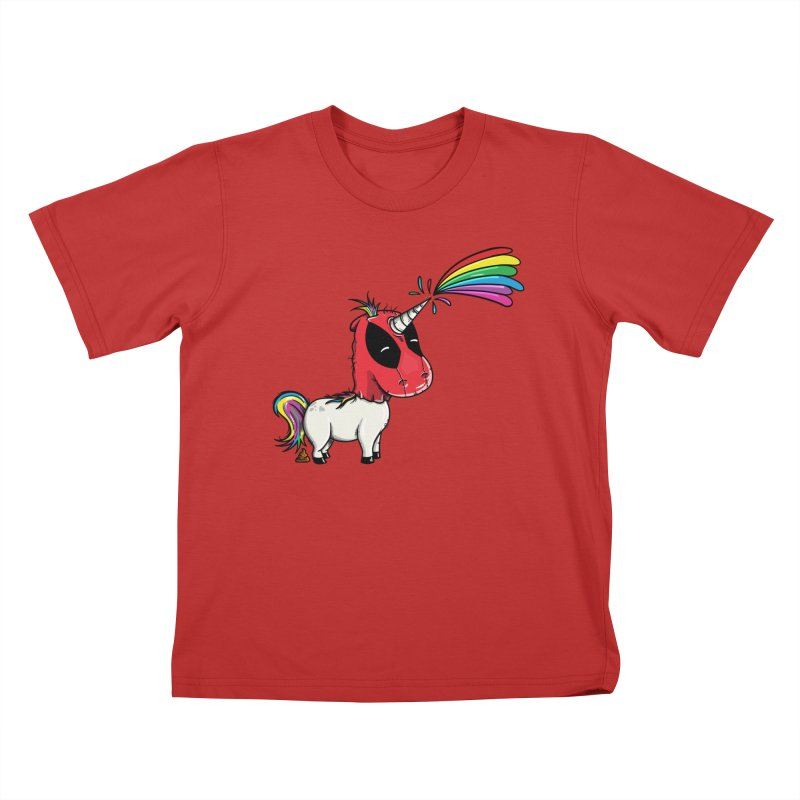 Deadpool's Unicorn Kids T-Shirt by mebzart's Artist Shop