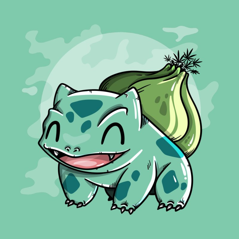 Bulbasaur Men's Longsleeve T-Shirt by mebzart's Artist Shop