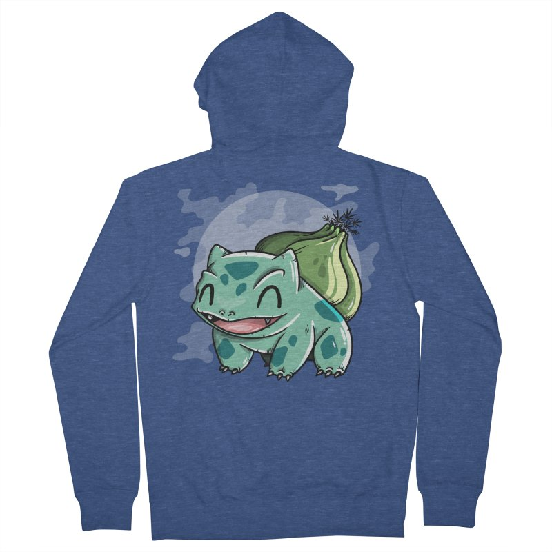 Bulbasaur Men's Zip-Up Hoody by mebzart's Artist Shop