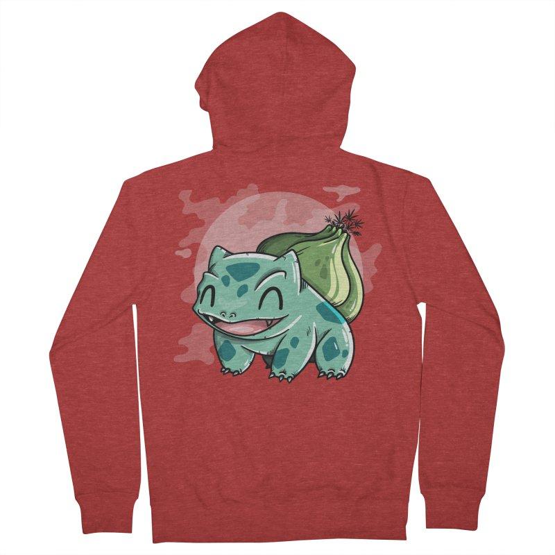 Bulbasaur Men's Zip-Up Hoody by mebzart's Artist Shop