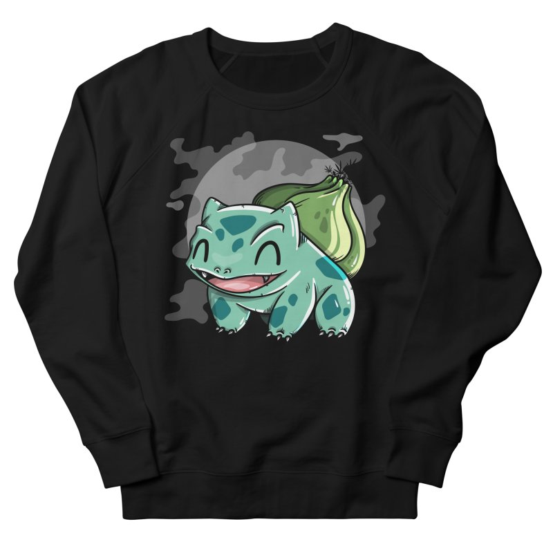 Bulbasaur Men's French Terry Sweatshirt by mebzart's Artist Shop
