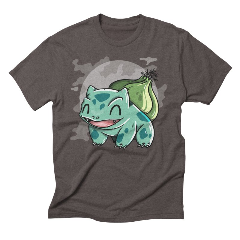 Bulbasaur Men's Triblend T-Shirt by mebzart's Artist Shop