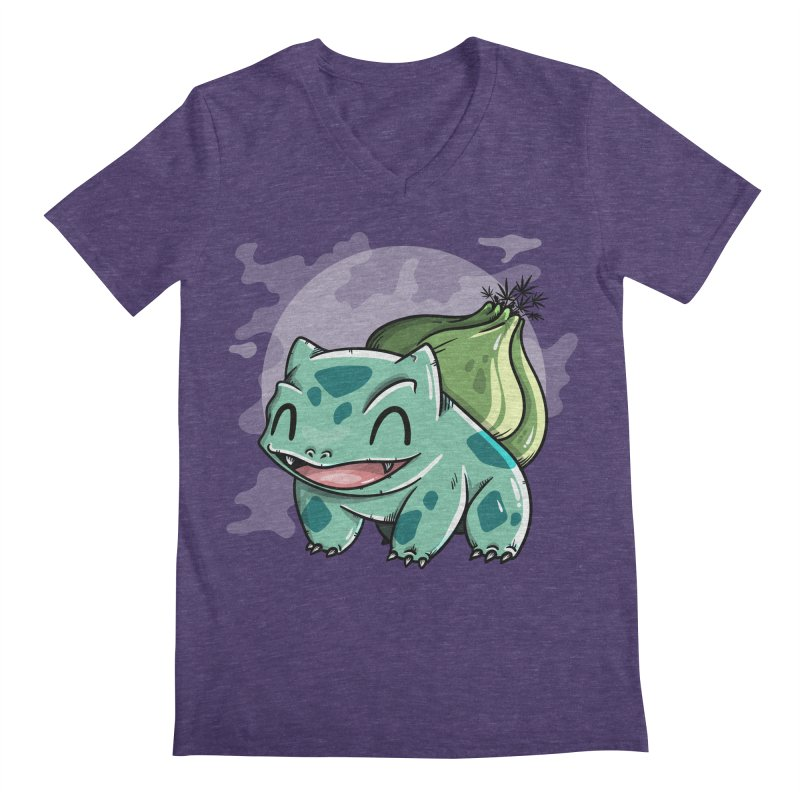 Bulbasaur Men's Regular V-Neck by mebzart's Artist Shop