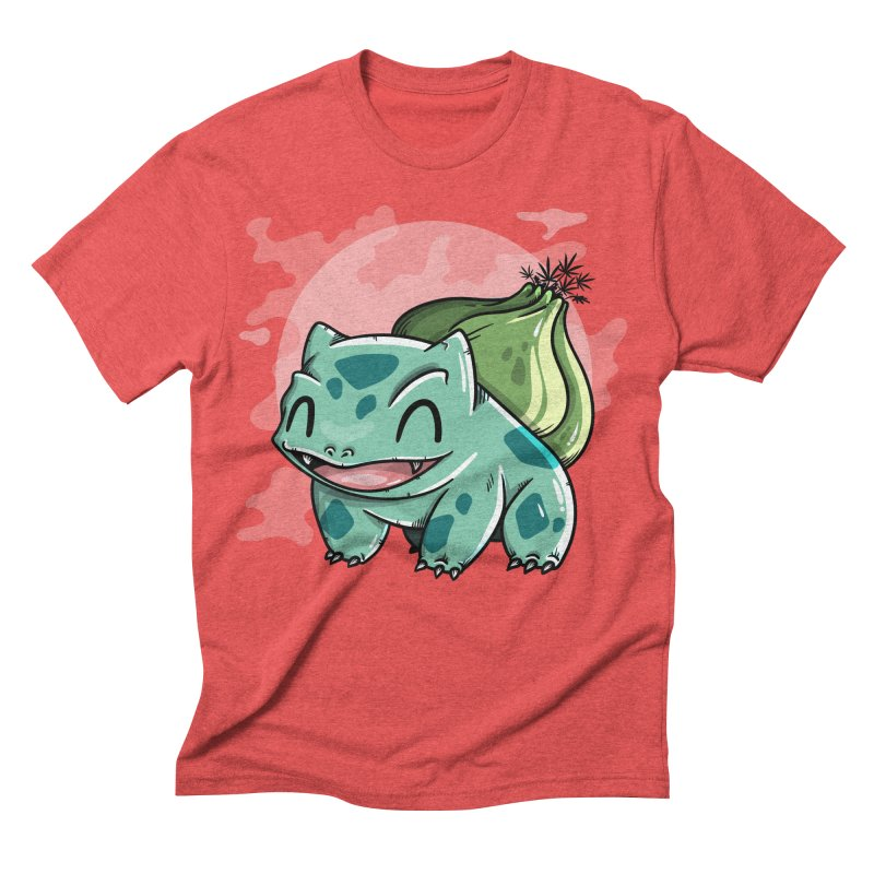 Bulbasaur in Men's Triblend T-shirt Chili Red by mebzart's Artist Shop