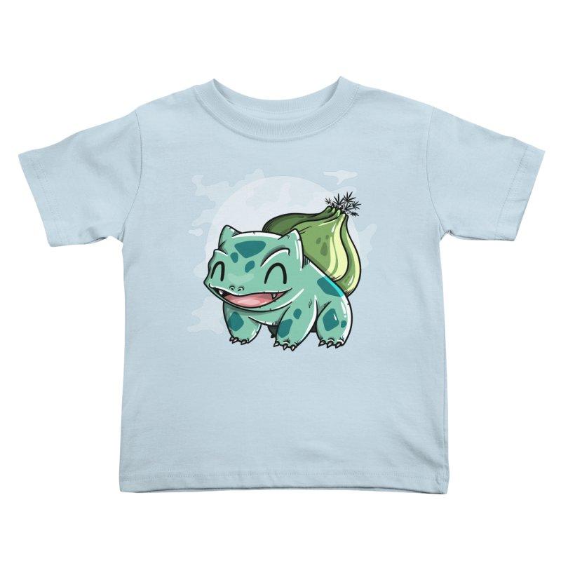 Bulbasaur Kids Toddler T-Shirt by mebzart's Artist Shop