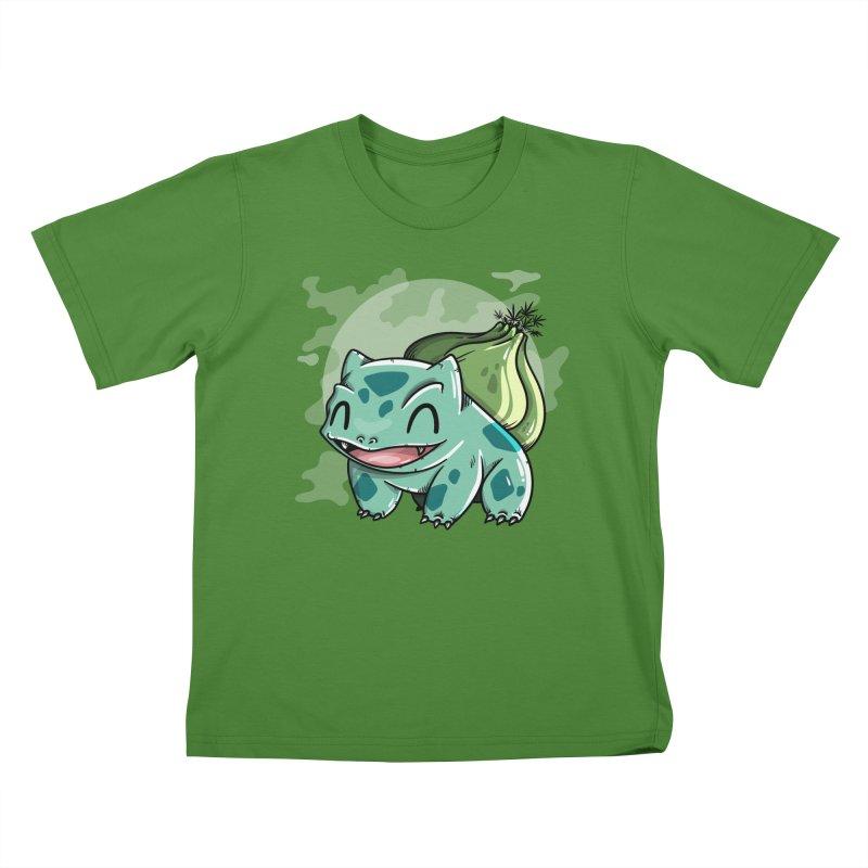 Bulbasaur Kids T-shirt by mebzart's Artist Shop