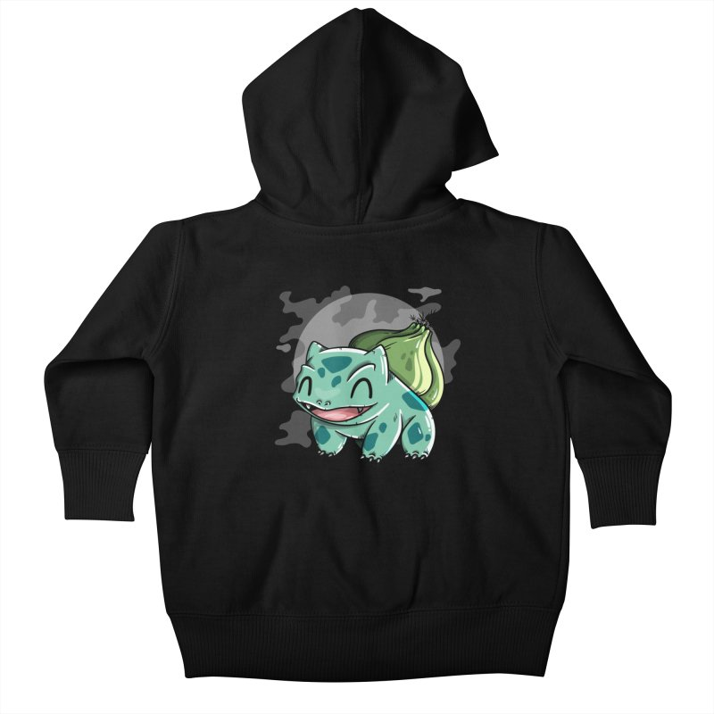 Bulbasaur Kids Baby Zip-Up Hoody by mebzart's Artist Shop