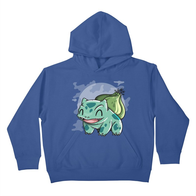 Bulbasaur Kids Pullover Hoody by mebzart's Artist Shop