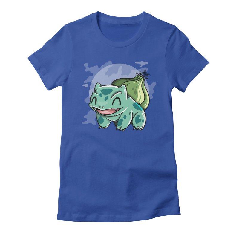 Bulbasaur Women's Fitted T-Shirt by mebzart's Artist Shop