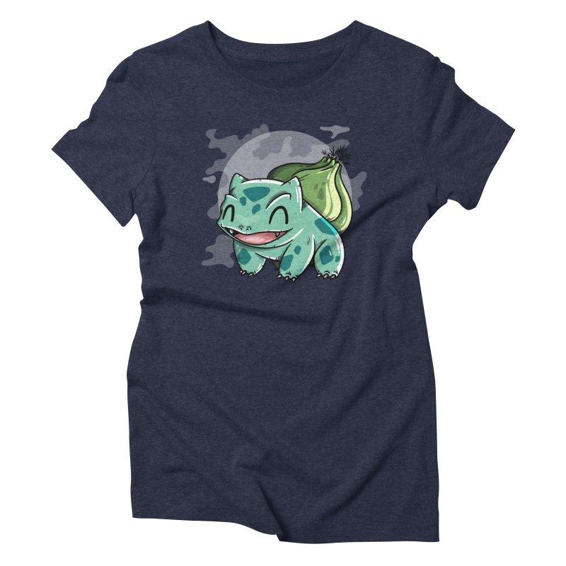Bulbasaur Women's Triblend T-Shirt by mebzart's Artist Shop