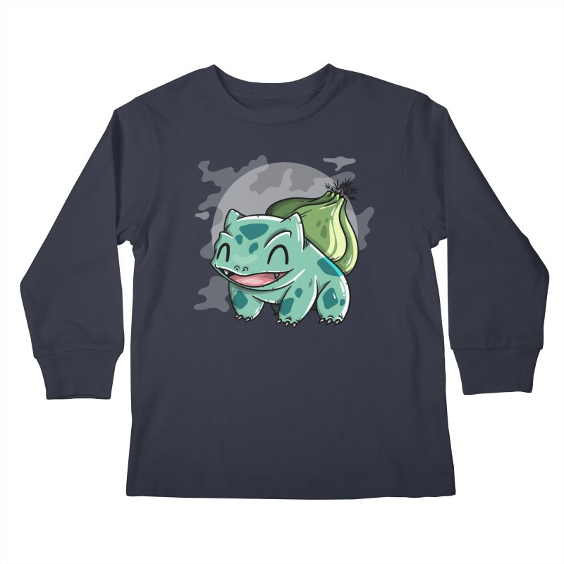 Bulbasaur Kids Longsleeve T-Shirt by mebzart's Artist Shop