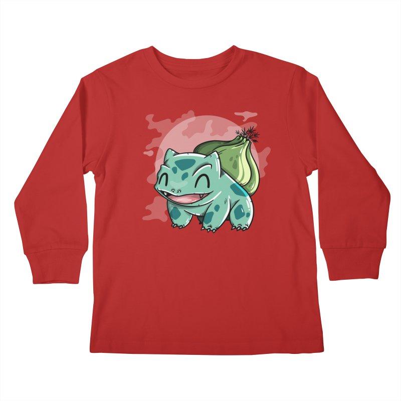 Bulbasaur Kids Longsleeve T-Shirt by mebzart's Artist Shop