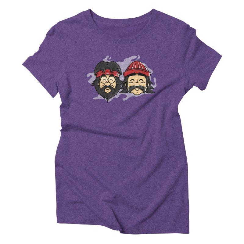 Cheech & Chong Women's Triblend T-Shirt by mebzart's Artist Shop