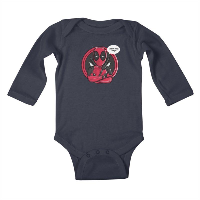 Chimi-F*cking-Changa! Kids Baby Longsleeve Bodysuit by mebzart's Artist Shop