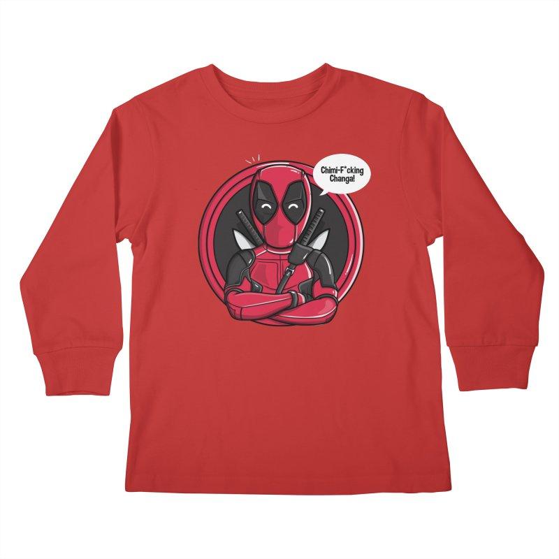 Chimi-F*cking-Changa! Kids Longsleeve T-Shirt by mebzart's Artist Shop
