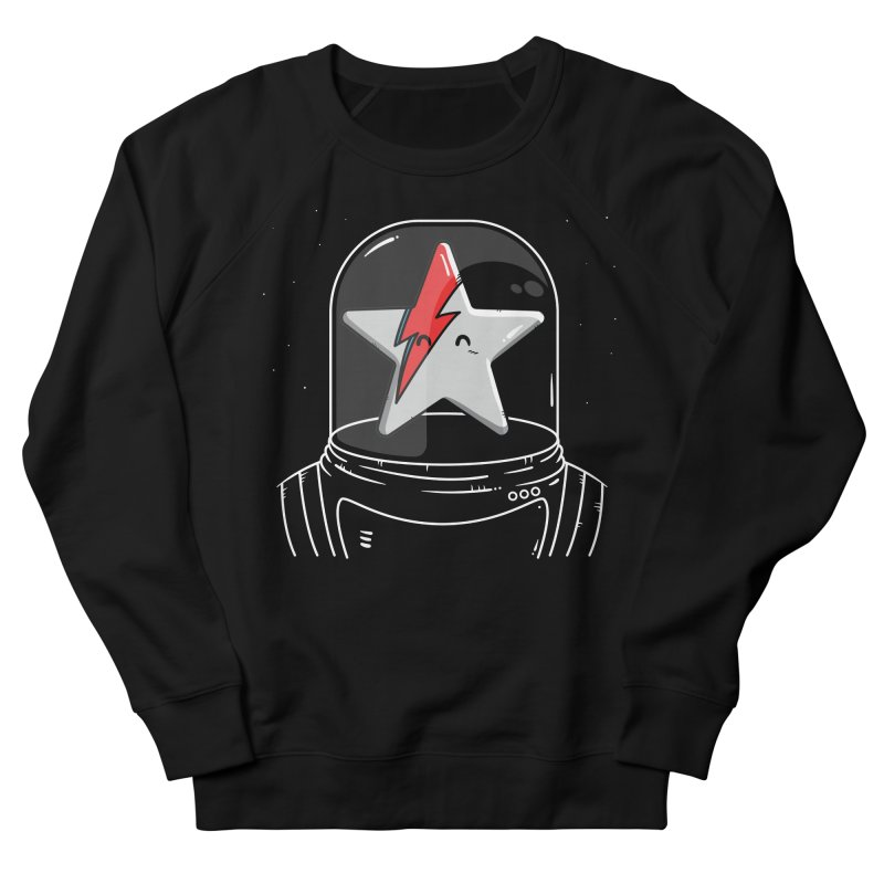 Starman Men's French Terry Sweatshirt by mebzart's Artist Shop