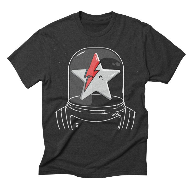 Starman in Men's Triblend T-shirt Heather Onyx by mebzart's Artist Shop