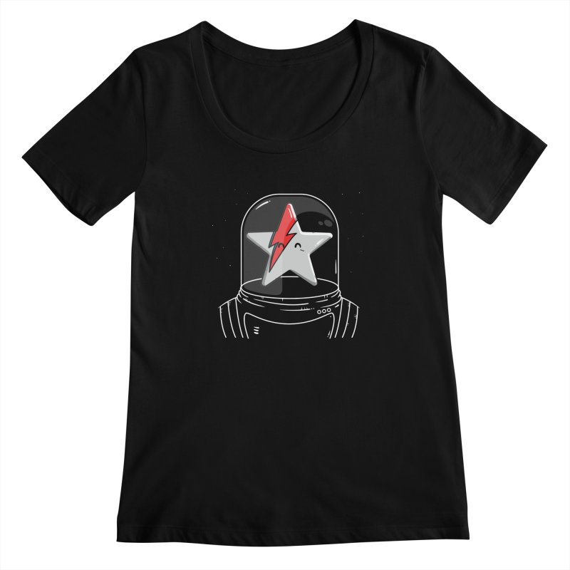 Starman Women's Scoopneck by mebzart's Artist Shop