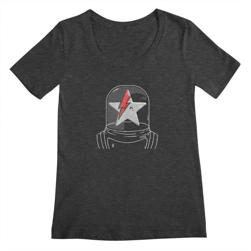 Starman Women's Regular Scoop Neck by mebzart's Artist Shop