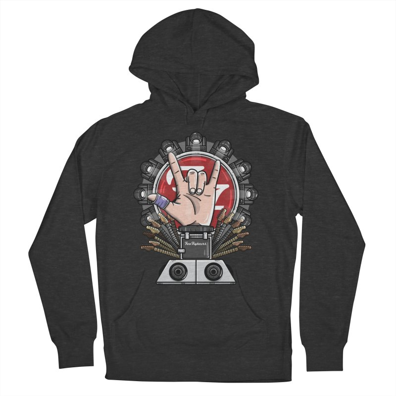 Dave Grohl's Badass Throne Women's Pullover Hoody by mebzart's Artist Shop