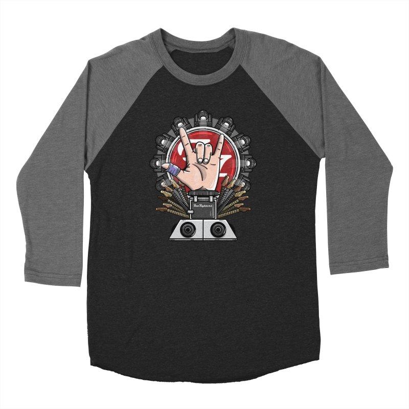 Dave Grohl's Badass Throne Men's Baseball Triblend Longsleeve T-Shirt by mebzart's Artist Shop