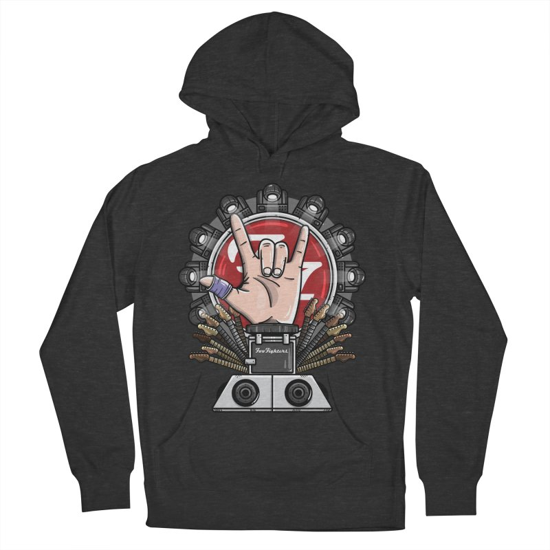 Dave Grohl's Badass Throne Women's French Terry Pullover Hoody by mebzart's Artist Shop