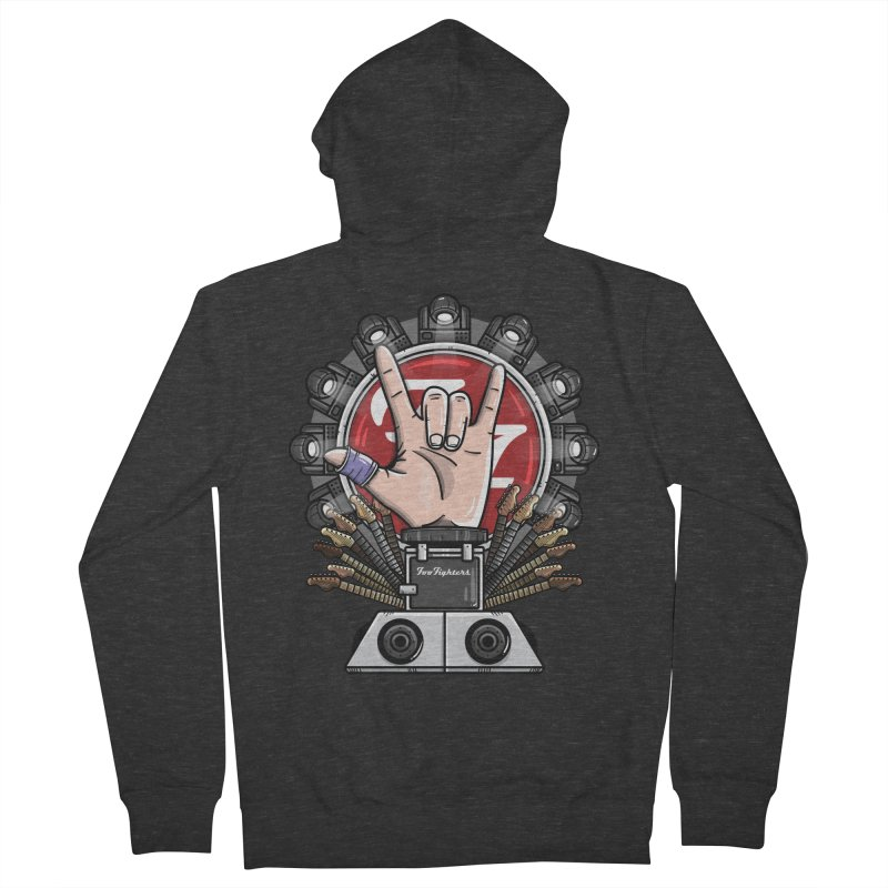 Dave Grohl's Badass Throne Women's Zip-Up Hoody by mebzart's Artist Shop