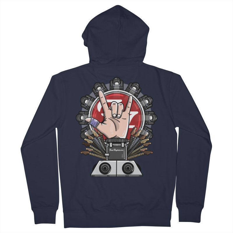 Dave Grohl's Badass Throne Women's French Terry Zip-Up Hoody by mebzart's Artist Shop