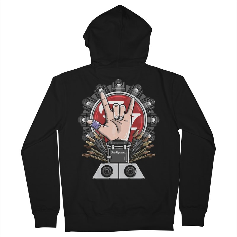 Dave Grohl's Badass Throne Men's Zip-Up Hoody by mebzart's Artist Shop