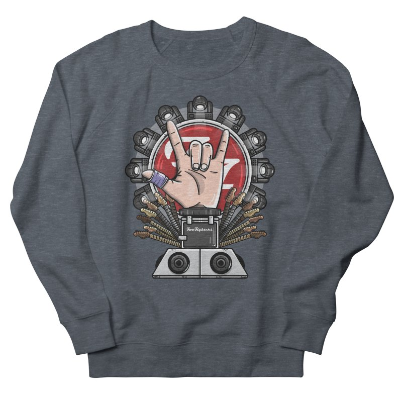 Dave Grohl's Badass Throne Women's French Terry Sweatshirt by mebzart's Artist Shop