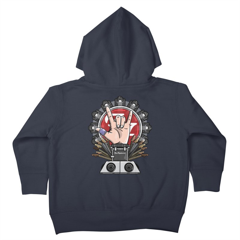 Dave Grohl's Badass Throne Kids Toddler Zip-Up Hoody by mebzart's Artist Shop