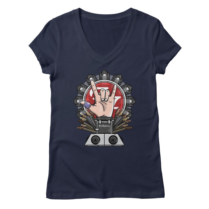 Dave Grohl's Badass Throne Women's V-Neck by mebzart's Artist Shop