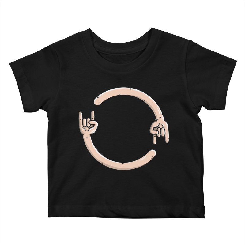 Loading Rock... Kids Baby T-Shirt by mebzart's Artist Shop