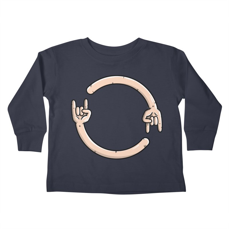 Loading Rock... Kids Toddler Longsleeve T-Shirt by mebzart's Artist Shop