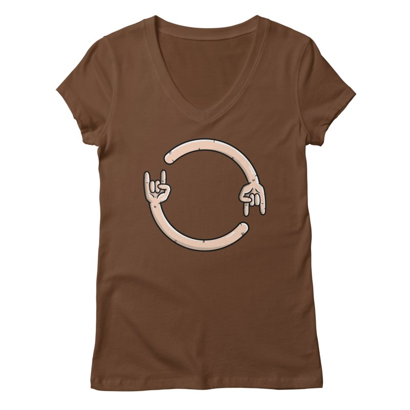 Loading Rock... Women's V-Neck by mebzart's Artist Shop