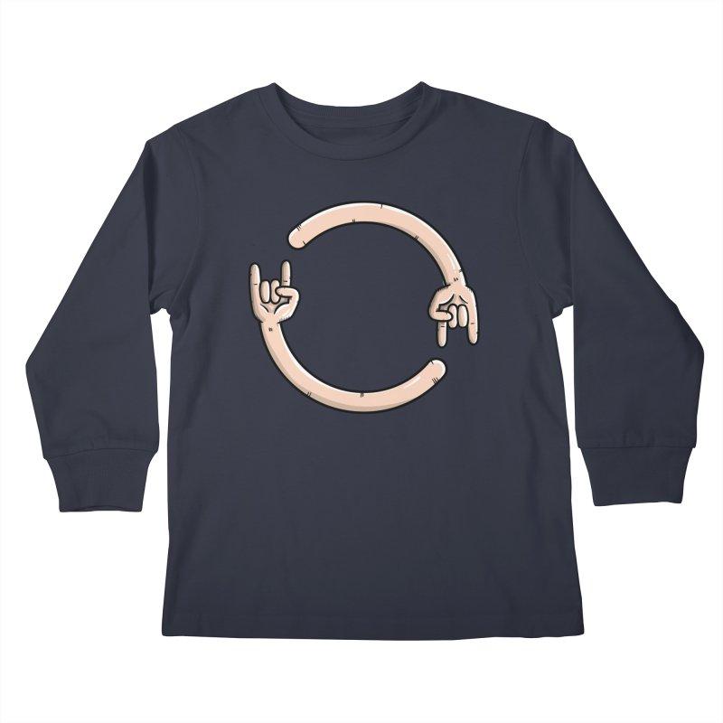 Loading Rock... Kids Longsleeve T-Shirt by mebzart's Artist Shop