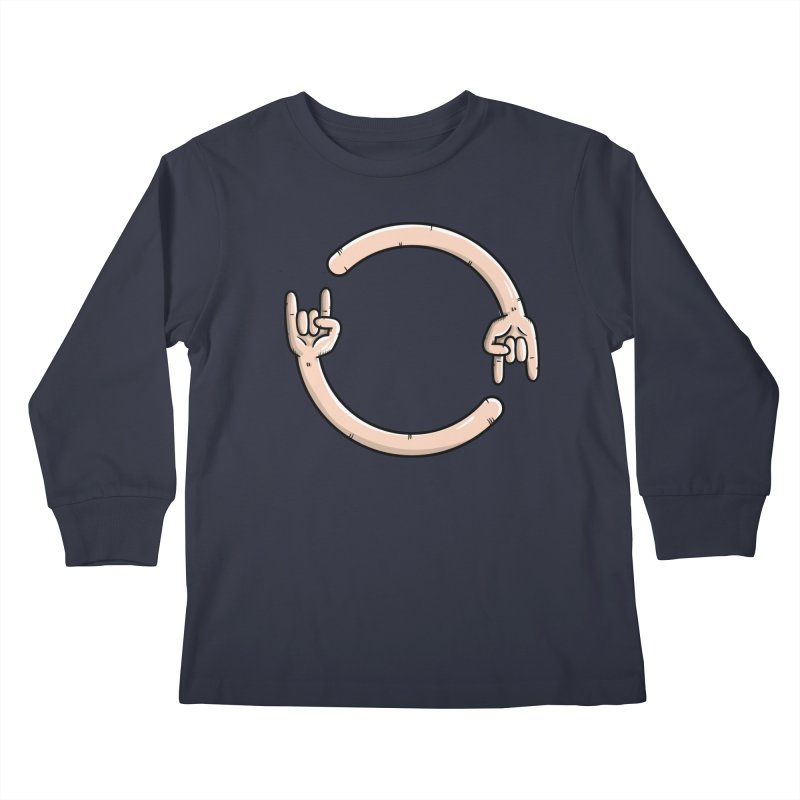 Loading Rock... Kids Longsleeve T-Shirt by mebzart's Artist Shop
