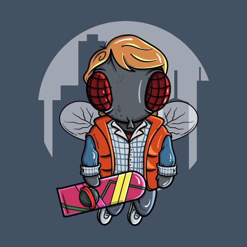 Marty McFly Men's V-Neck by mebzart's Artist Shop