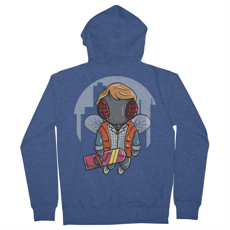 Marty McFly Women's French Terry Zip-Up Hoody by mebzart's Artist Shop