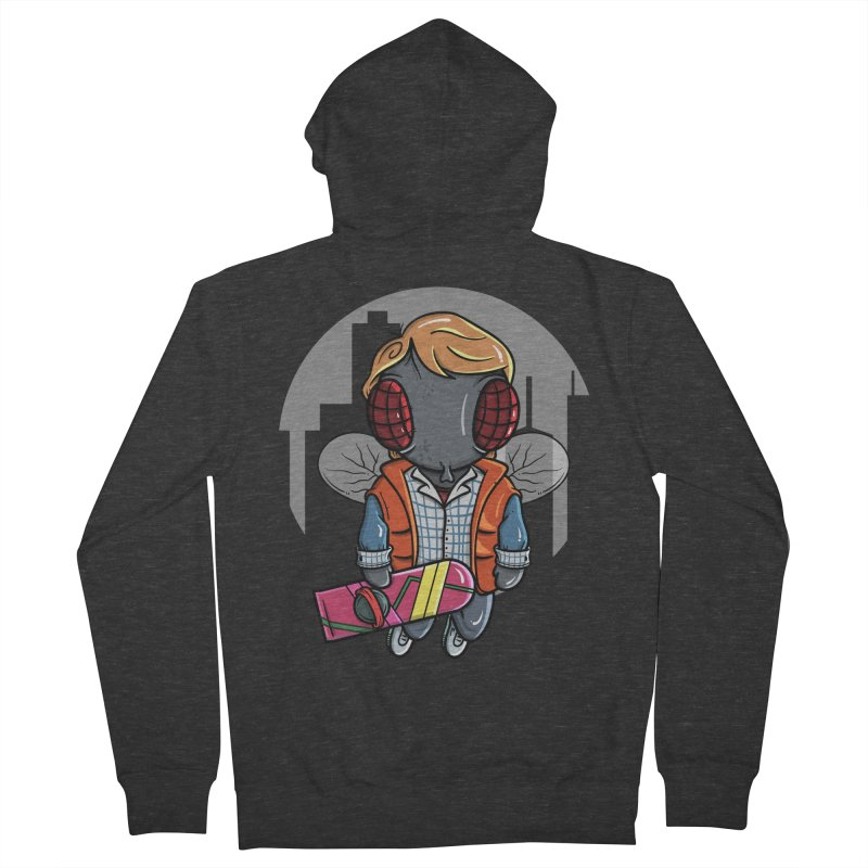 Marty McFly Men's French Terry Zip-Up Hoody by mebzart's Artist Shop