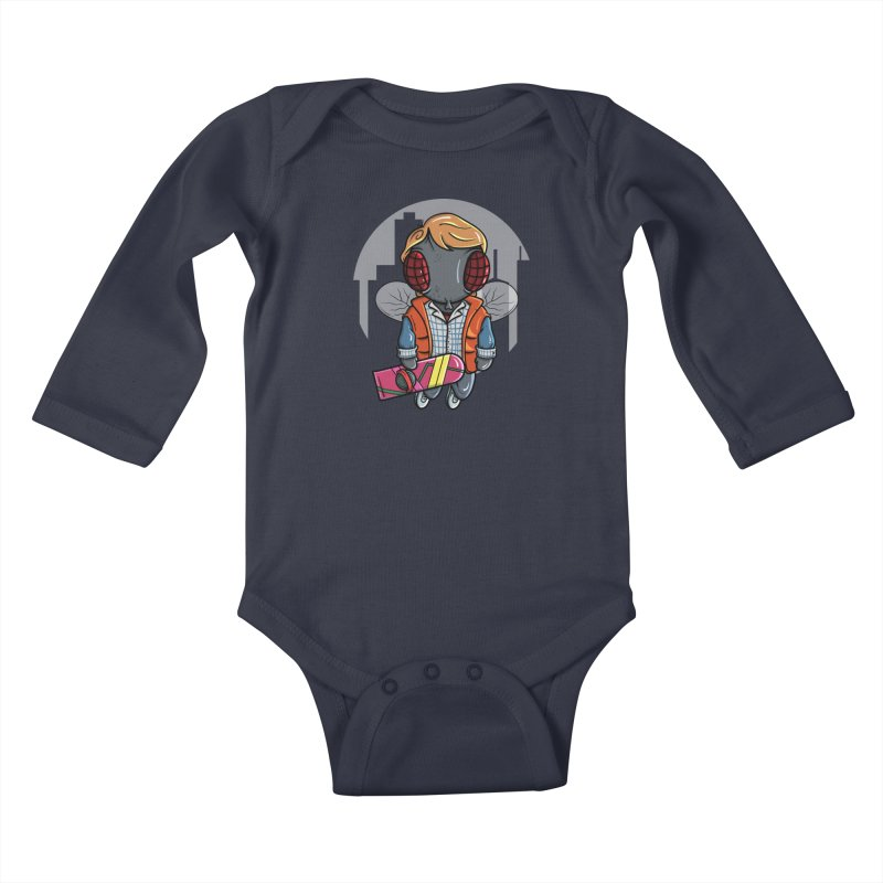 Marty McFly Kids Baby Longsleeve Bodysuit by mebzart's Artist Shop