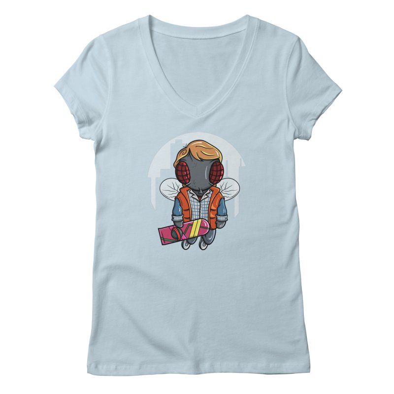 Marty McFly Women's V-Neck by mebzart's Artist Shop